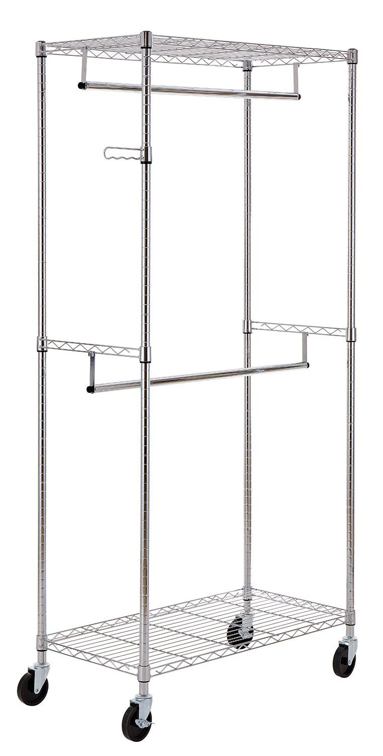 Finnhomy Heavy Duty Rolling Garment Rack Clothes Hangers With