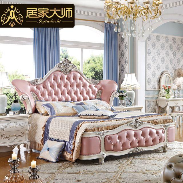 China Guangzhou Leather Modern Luxury Princess Bedroom Furniture