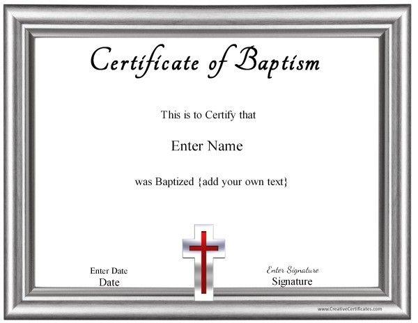 Baptism Certificate  Redz    Certificate