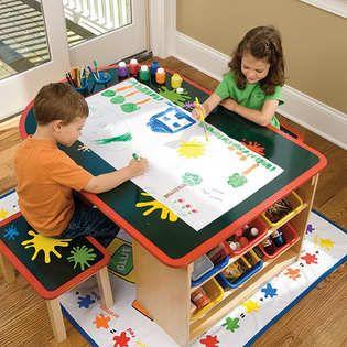 lab kids art table and accessories toys games arts crafts easels art desks boys. Black Bedroom Furniture Sets. Home Design Ideas