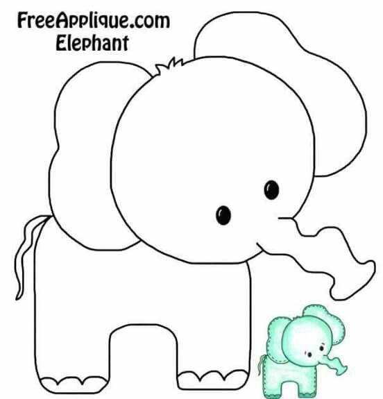 Elephant | Elefantes | Pinterest | Nähen, Applikationen und Krabbeldecke