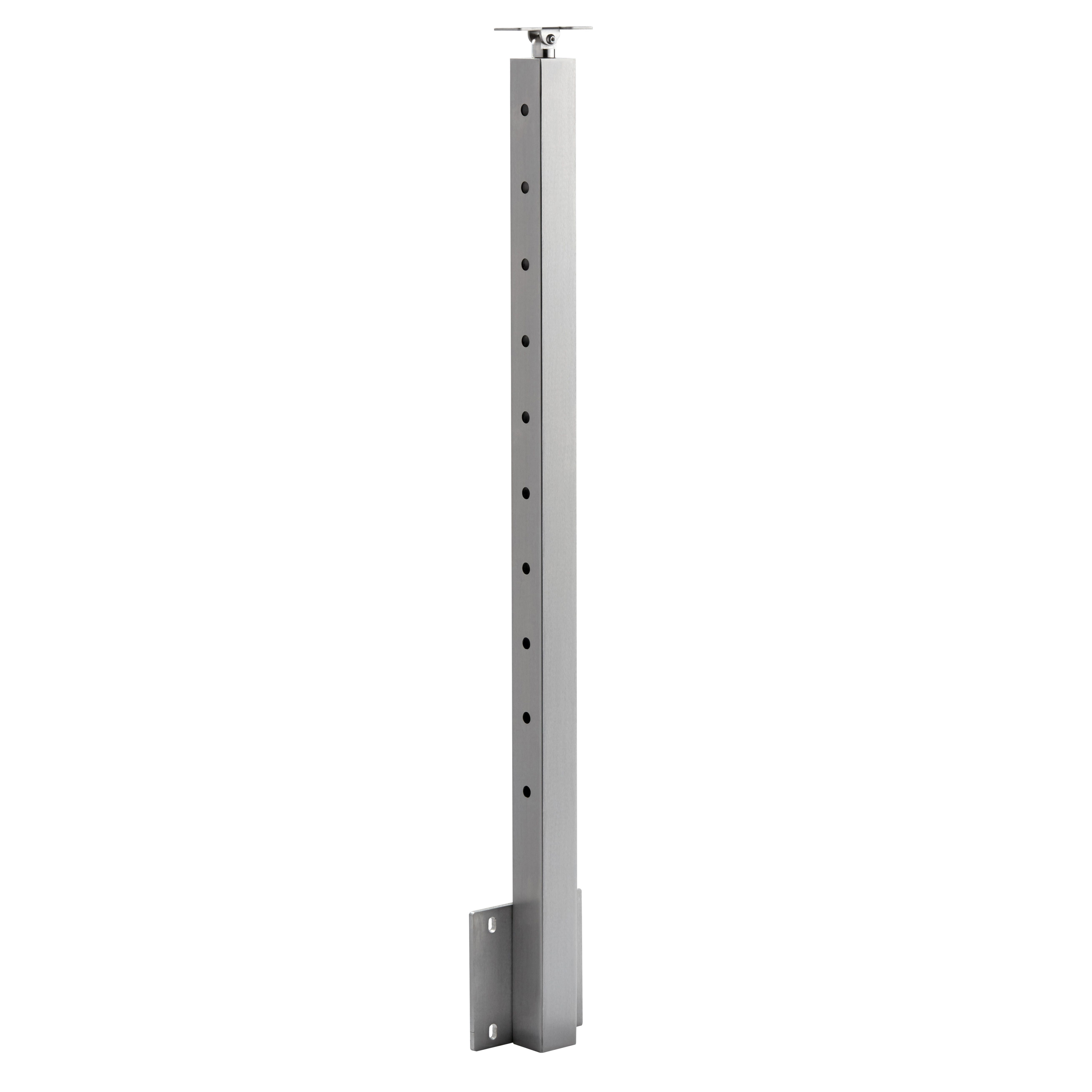 Best Side Mount Universal Top Square 2″ Cable Railing Post 400 x 300
