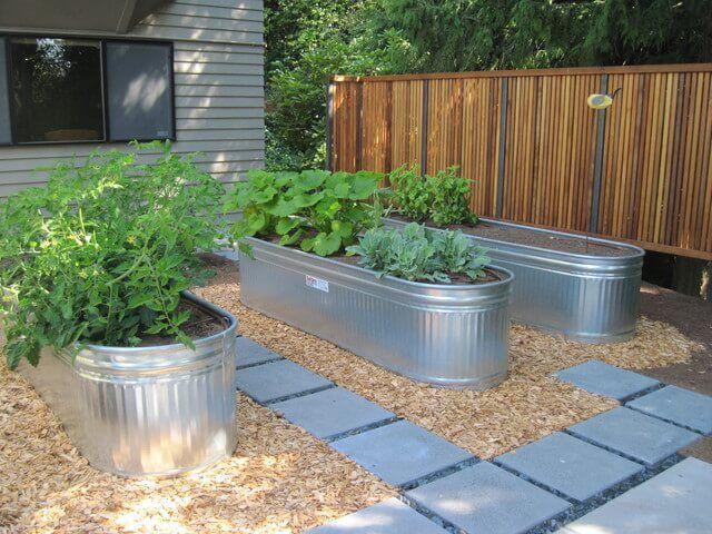 Galvanized Water Trough Planters Building A Raised Garden Diy Raised Garden Raised Bed Garden Design