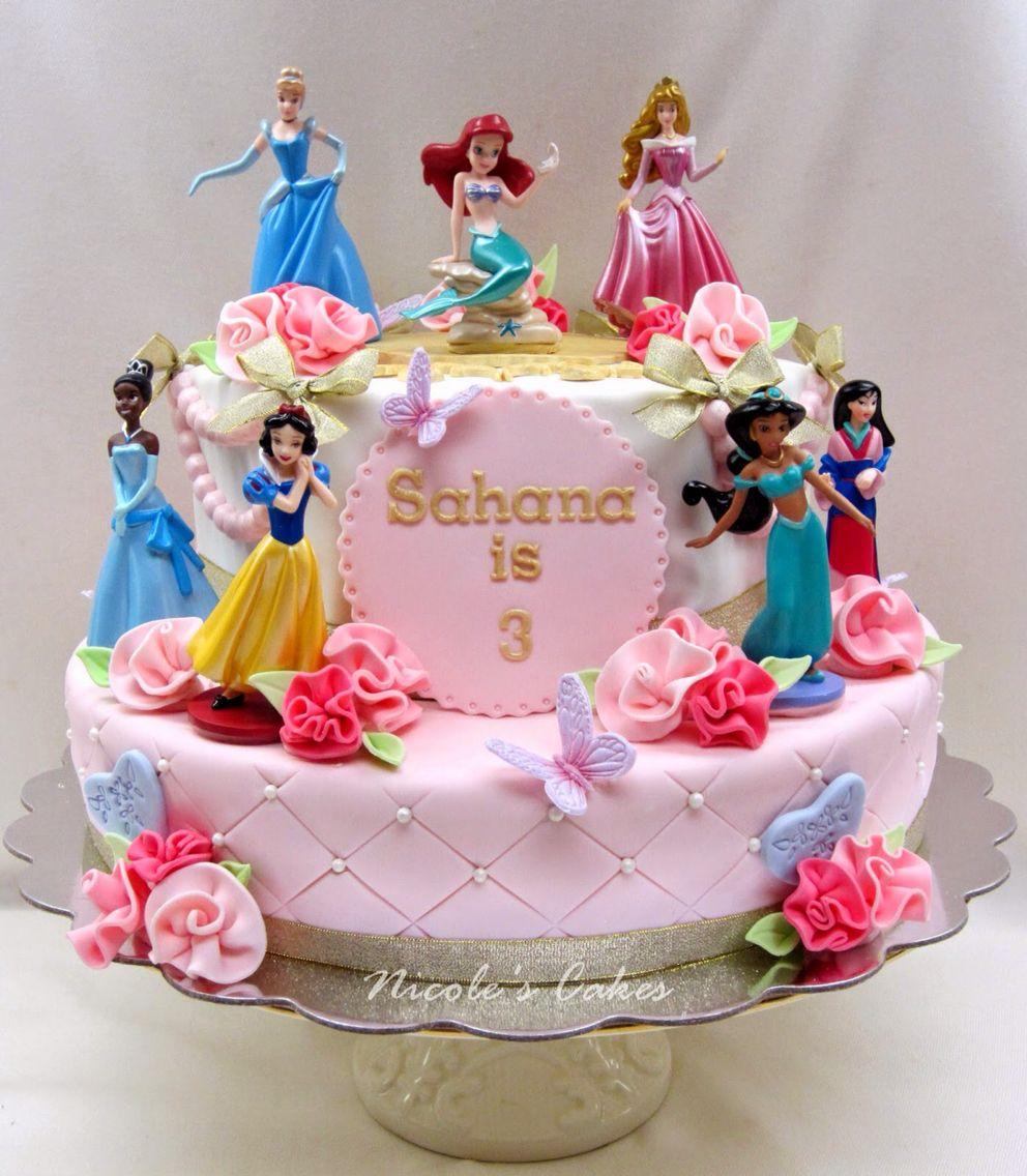 Pink Princess Cakes, Disney Princess Birthday