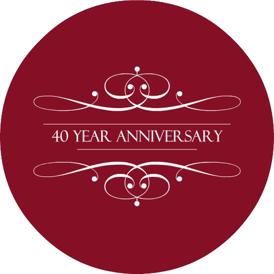 40 years circle  Welcome loyal clients and new friends 40 years in business 2016  Anniversary