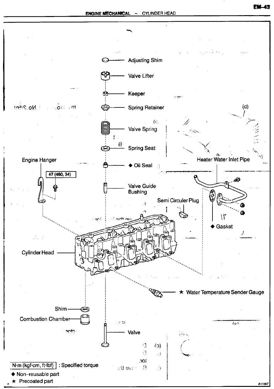 service manual for toyota 1kz te turbo diesel engine 1kz te turbo rh pinterest com toyota 1kz-te service manual prado 1kz-te service manual