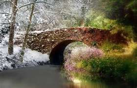 Silver white winters that melt into springs