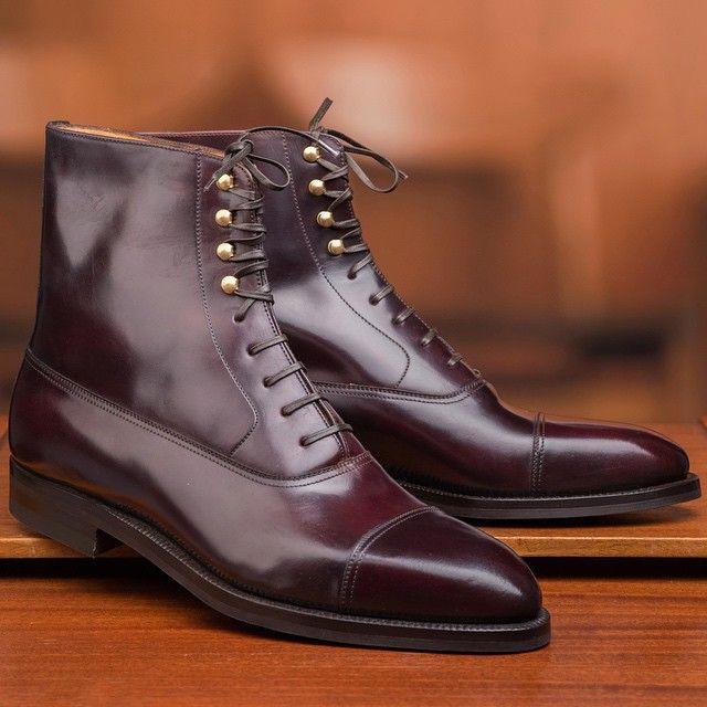 Enzo Bonafé Horween Cordovan Col.8 Balmoral boots. Made-to-order. #skoaktiebolaget #enzobonafe #bonafe #cordovan #horween