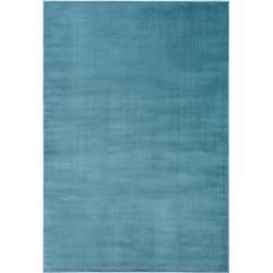 Photo of benuta short pile carpet velvet blue 80×150 cm – modern carpet for living room benuta