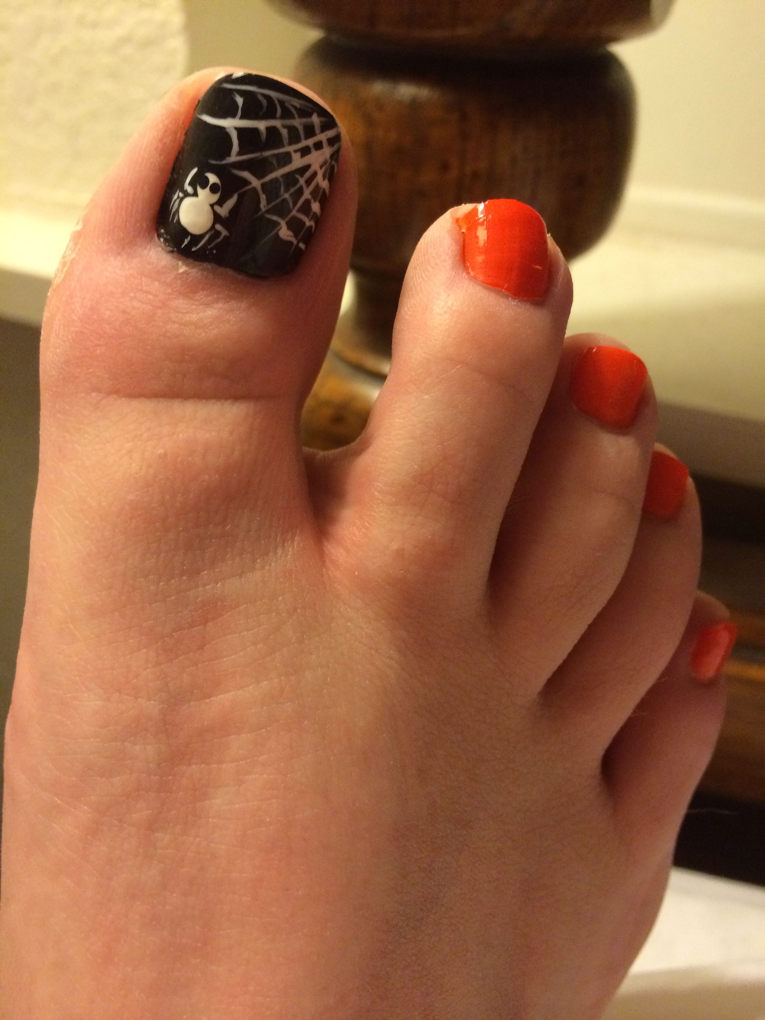 Halloween Pedicure Halloween Toe Nails Toe Nail Designs Toe Nails