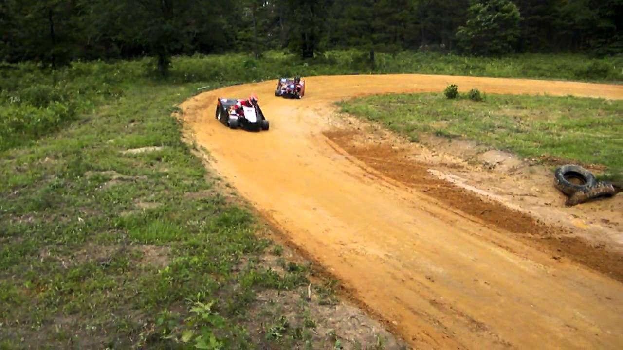 back yard short high banked go kart racing Go kart