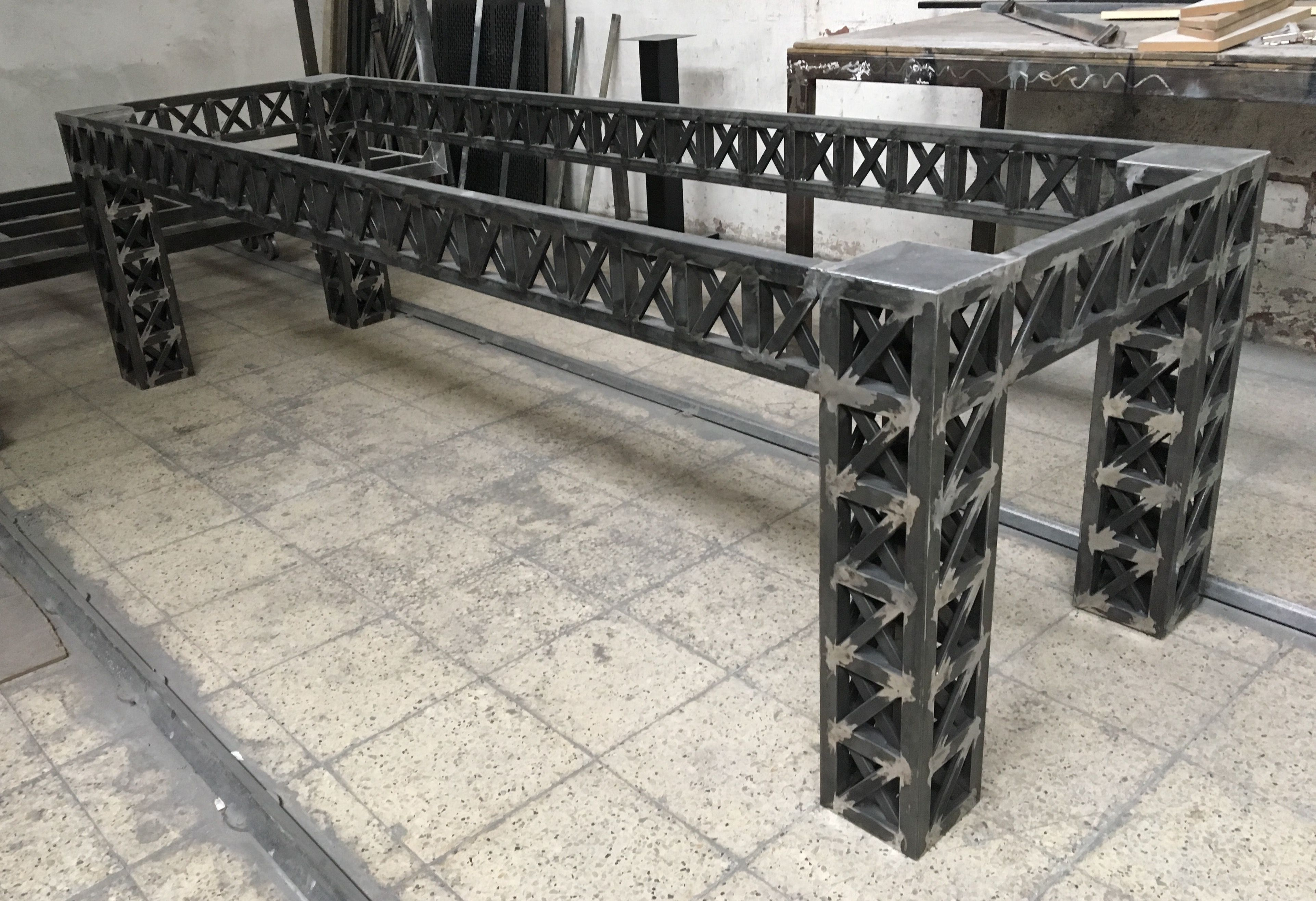 Structure Table Riveted Steel Structure Table Wish List In 2019 Industrial