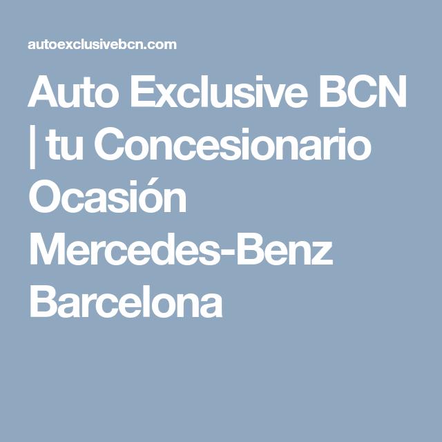 Tu Concesionario Ocasión Mercedes