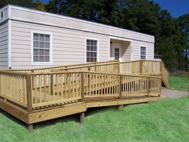 Heja wooden wheelchair ramp plans ramps pinterest for Ada mobile homes