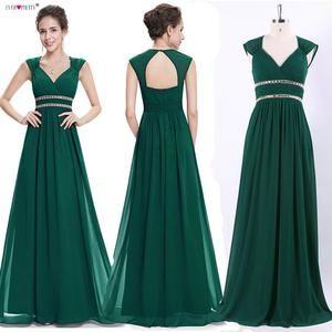 Abendkleider Lange Hübsche Frauen Elegant Navy Blue   – Dress