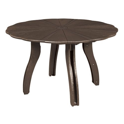 Generations Inch Scalloped Round Dining Table Base Included - 52 inch round outdoor dining table