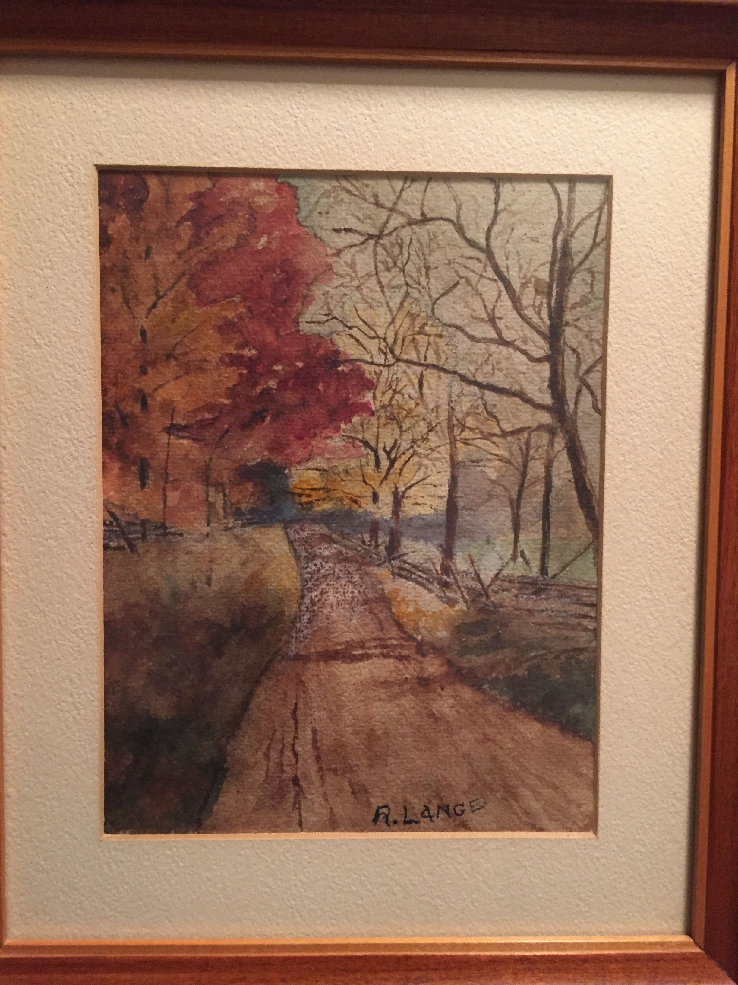 Country Road by my great grandmother Ruth Lange