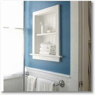 Good Idea For Medicine Cabinet Built Into Wall. Take Off Door And Add  Beadboard To