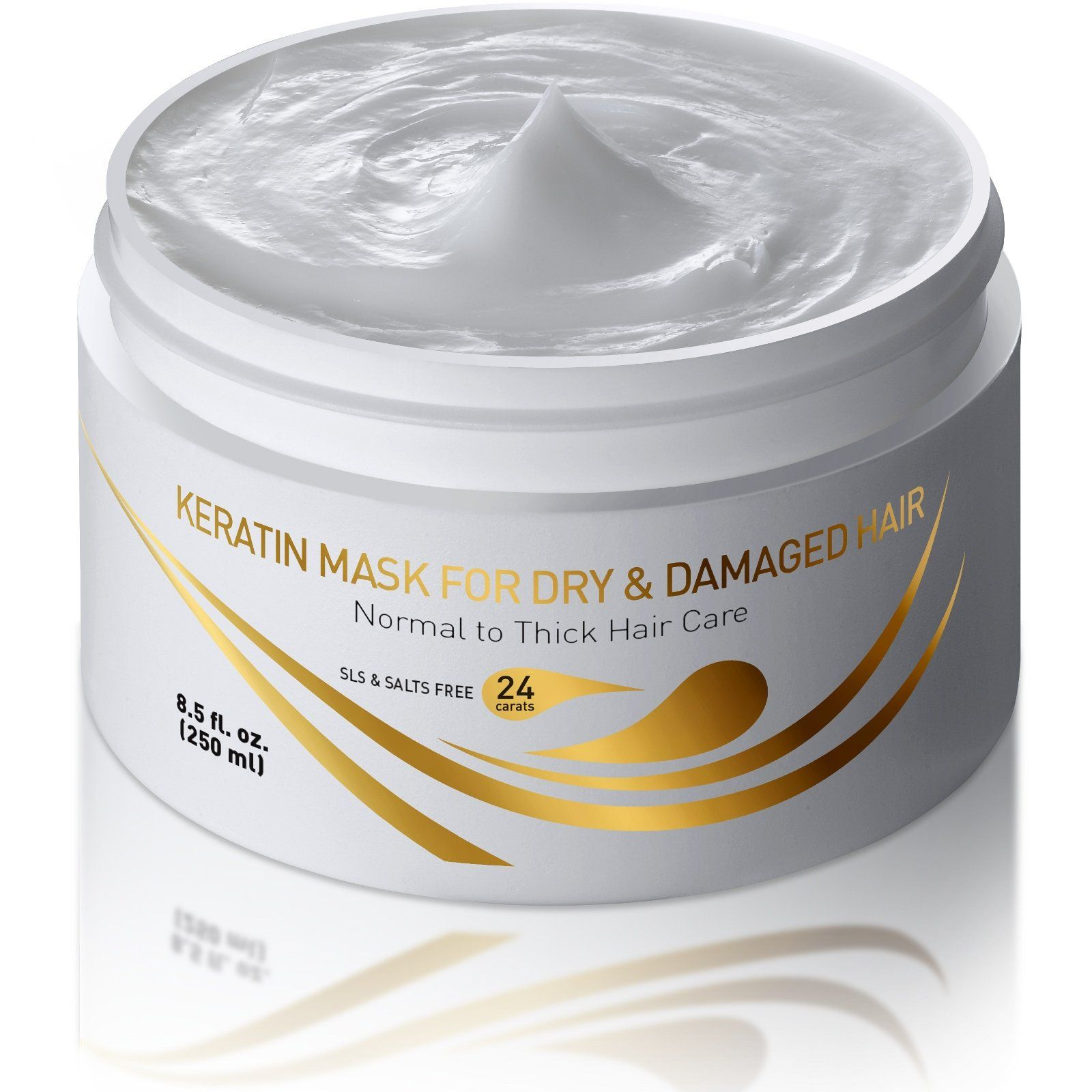 Keratin Dry and Damaged Deep Conditioner Mask Thick Coarse
