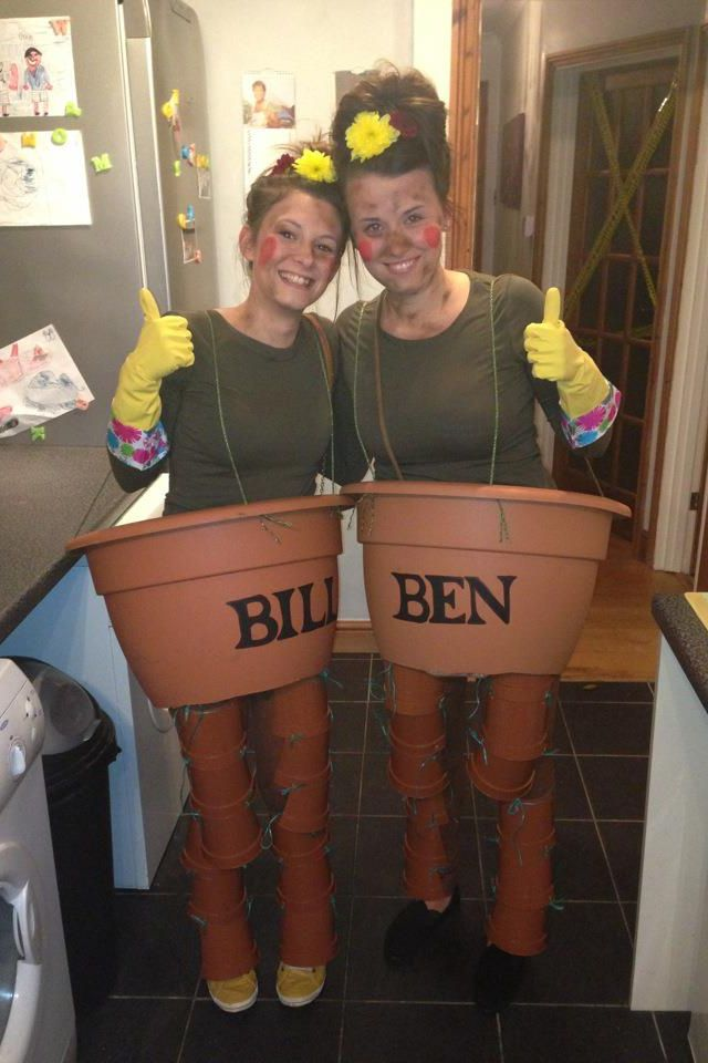 Bill & Ben fancy dress costume! Ideal for a Halloween party and an ...
