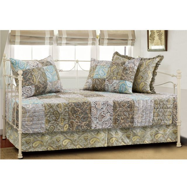 Vintage Paisley Quilted Reversible Daybed Bedding Set