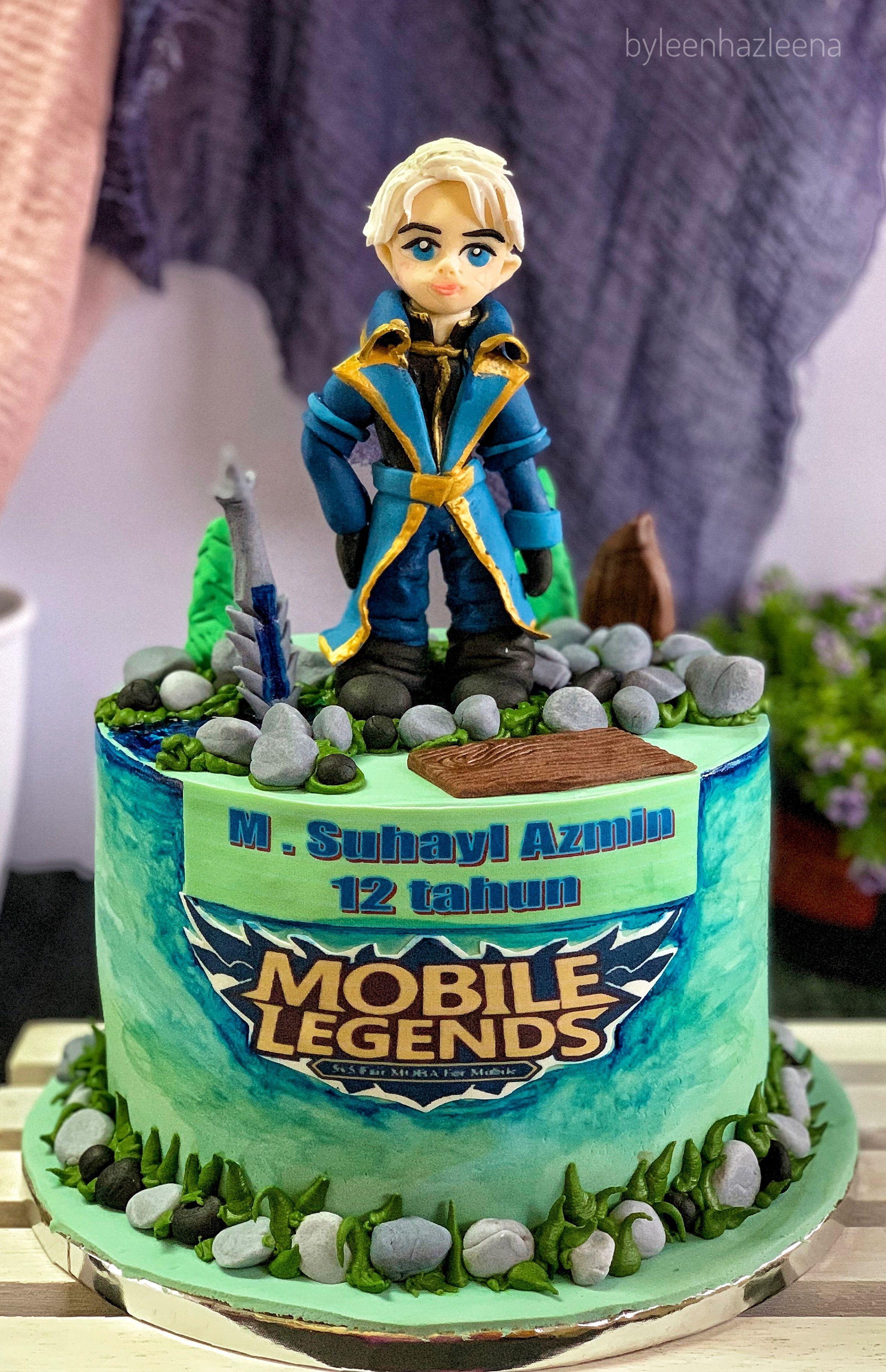 mobile legend birthday cake design Alucard Mobile Legend  Pretty birthday cakes, Themed cakes
