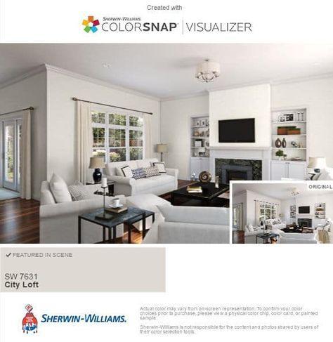 Sherwin Williams City Loft gray living room #cityloftsherwinwilliams
