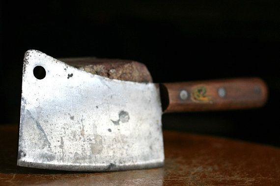 Vintage Meat Cleaver By Village Blacksmith By WoodenStoolVintage, $44.49
