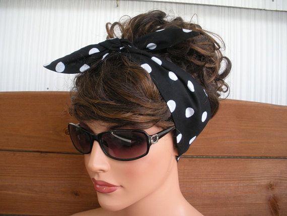 Black Tie Headbands