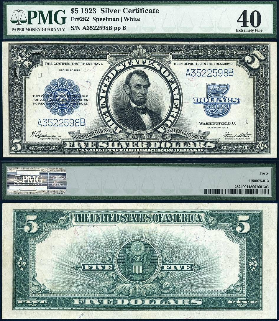 1923 5 silver certificate the porthole note fr 282 pmg ef40 1923 5 silver certificate the porthole note fr 282 pmg ef40 large size xflitez Choice Image