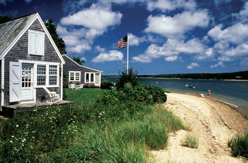 Summer is the best time to enjoy the lovely beaches and quaint cottages of Katama Beach on Martha's Vineyard.