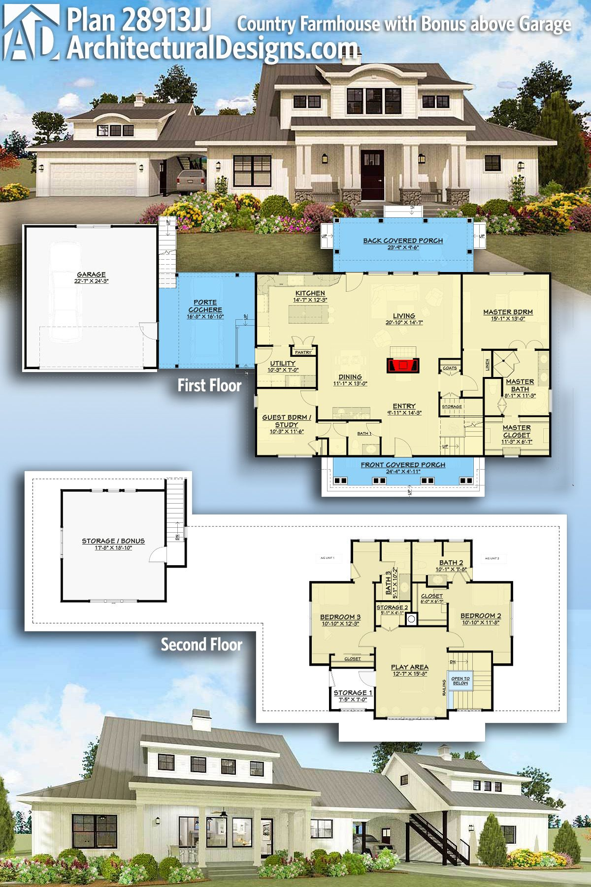 Architectural Designs House Plan 28913JJ gives you