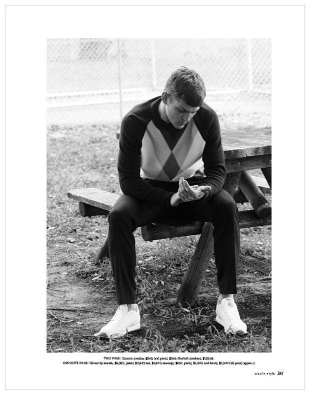 Sebastian Sauve Stars in Spring Editorials for Gaschette, Lab-A4 + Men's Style Australia