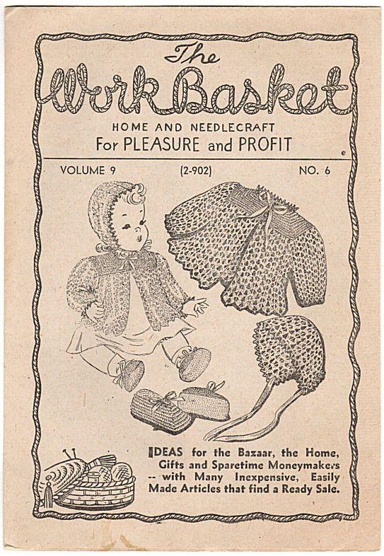 Vintage 1944 Workbasket Magazine Vol 9 No 6