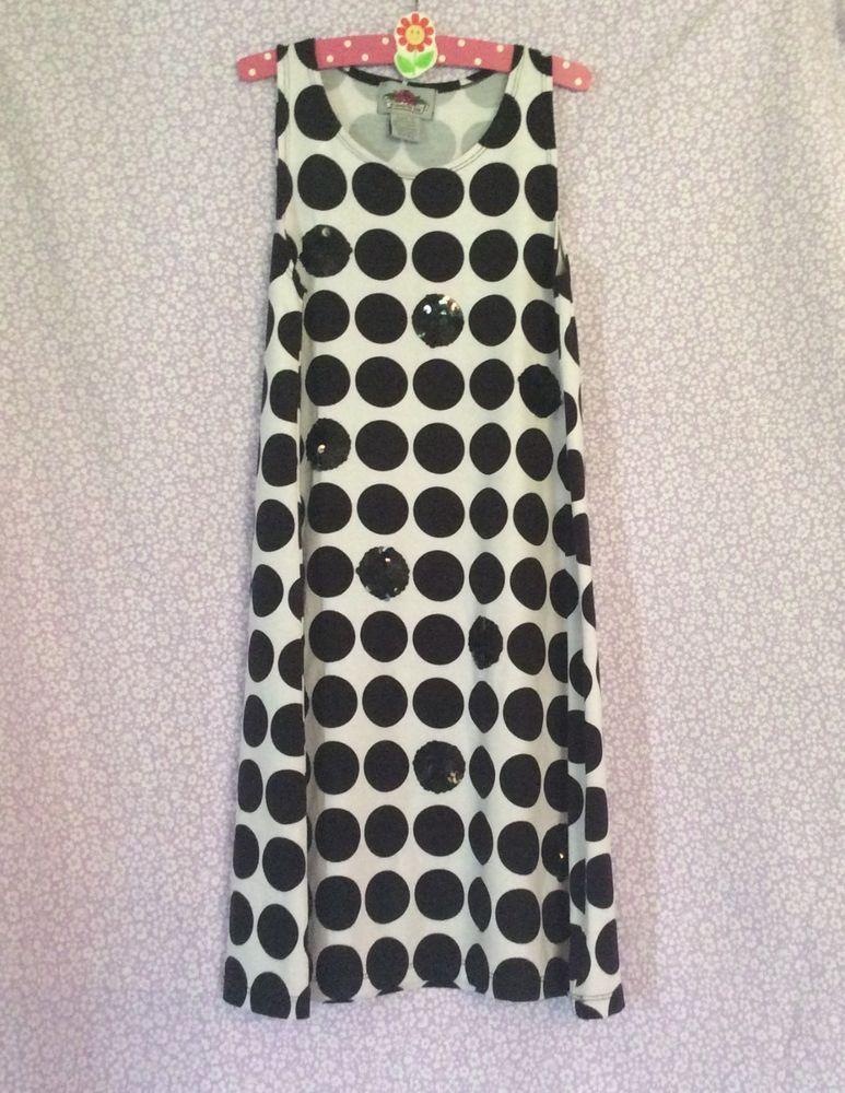 a4275baf7 Flowers by Zoe Girls Black/White Polka Dot Sequin Dress size L (8-10)  #FlowersbyZoe
