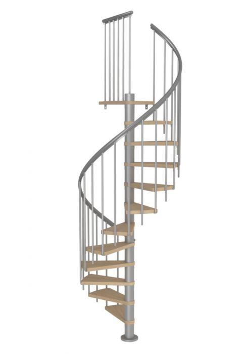 Best Dolle Montreal Grey Spiral Stair Kit 1200Mm Oak Veneer 400 x 300