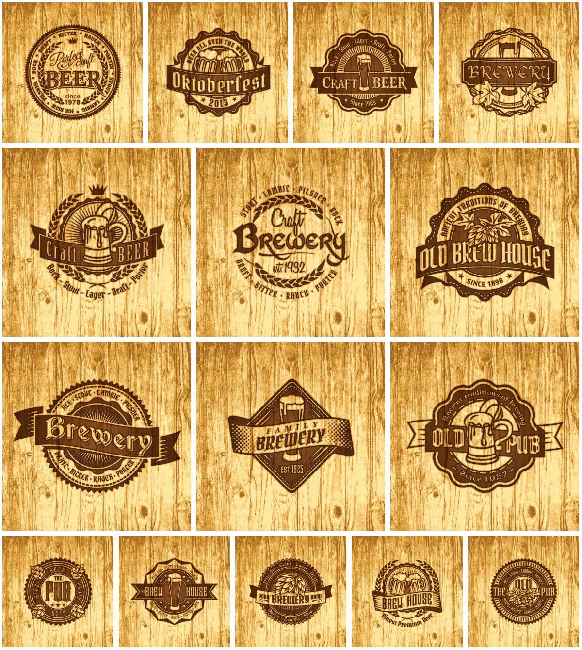 Vintage Beer Label Set   Beer