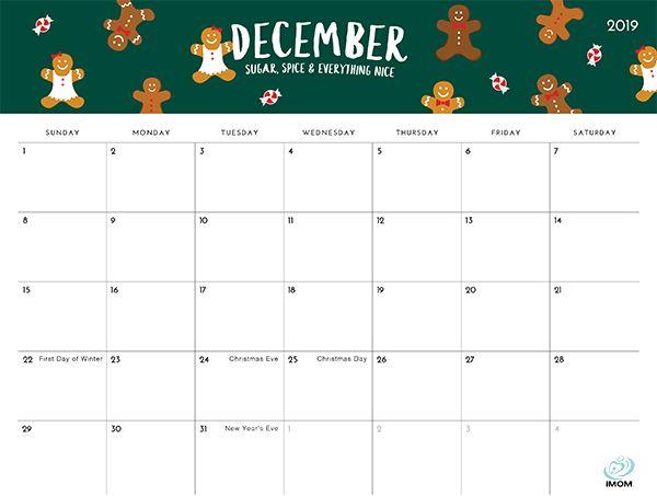 The Foodie Collection 2019 Calendar | December calendar ...