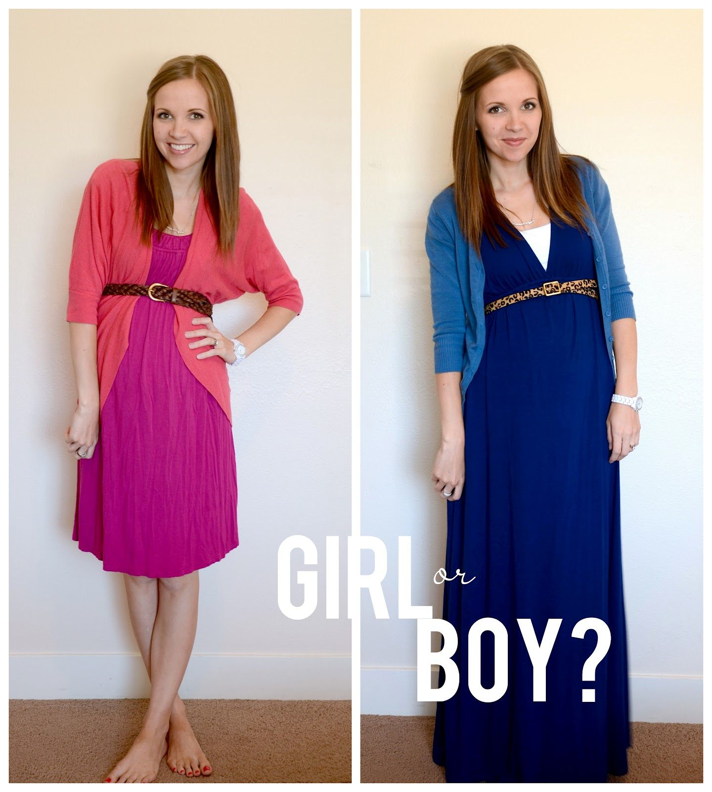 Gender reveal wear your guess Guests e in either pink or blue to