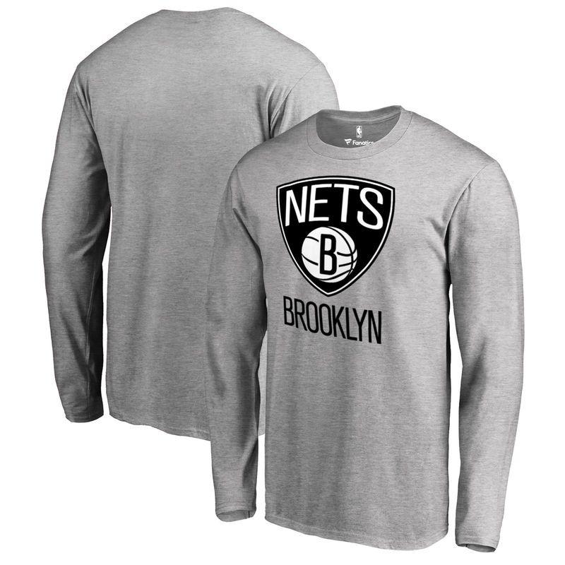 Brooklyn Nets Fanatics Branded Primary Logo Long Sleeve T-Shirt ... d7d26d49335