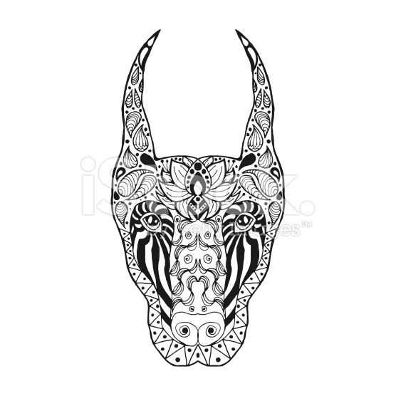 Sketch for tattoo or t-shirt. Doberman. Coloring page. Animals. Hand ...