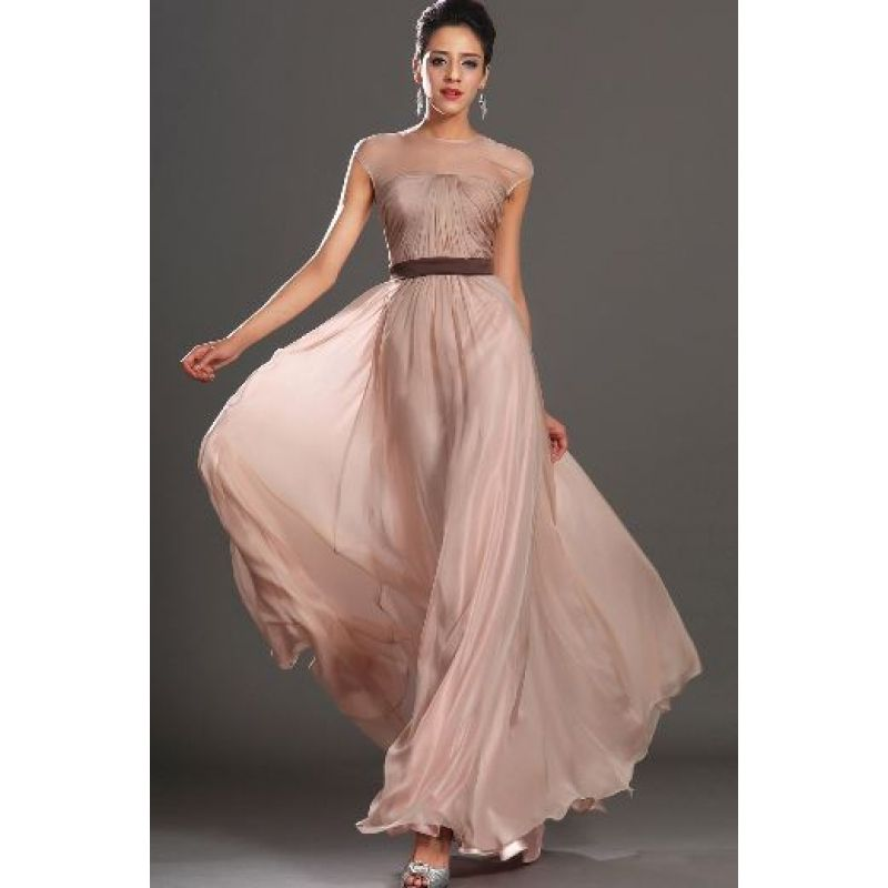 Silk Chiffon Dress With Capsleeves (500) | Style | Pinterest