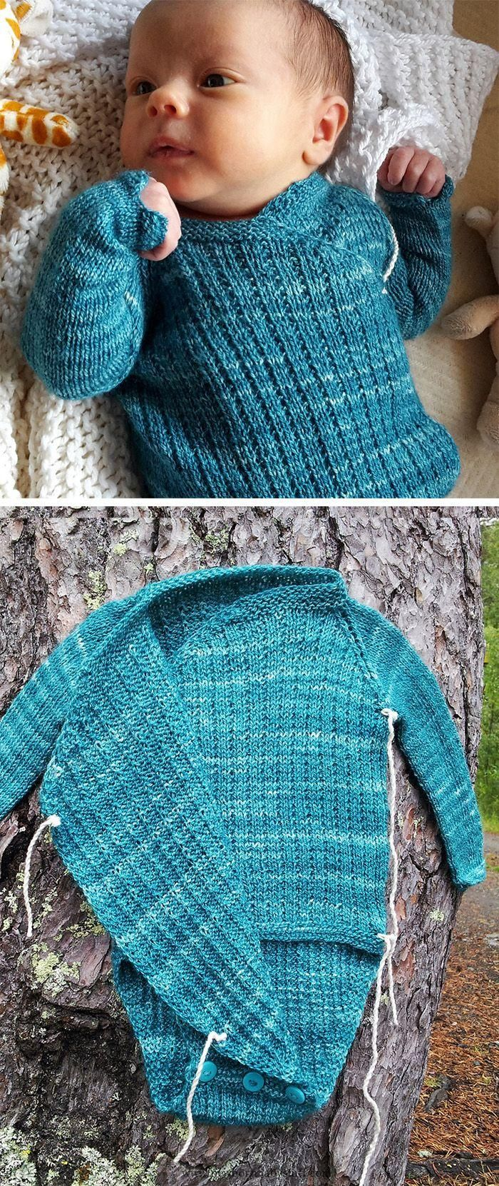 Baby Knitting Patterns Free Knitting Pattern for Wrapover Onesie ...