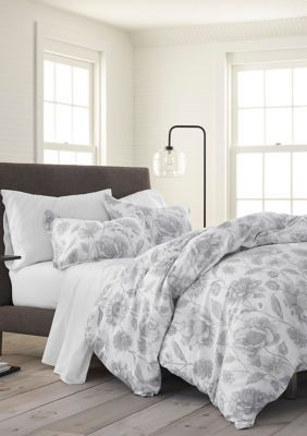 Photo of Ecopure Meadow Walk Duvet Set – Gray – King