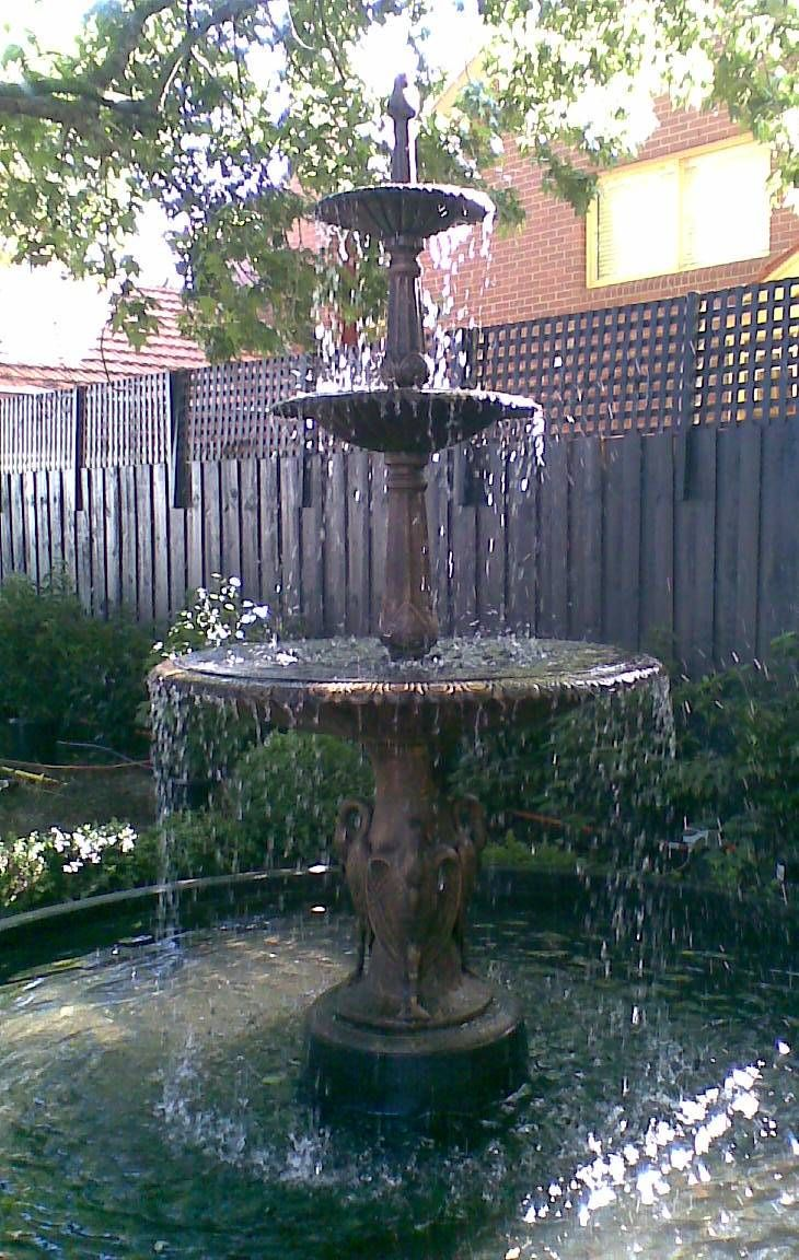 Black 3 Tier Water Fountain Cast Iron Fountains