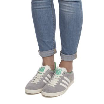 Womens Light Grey Adidas Gazelle Og Iv Trainers - love these!