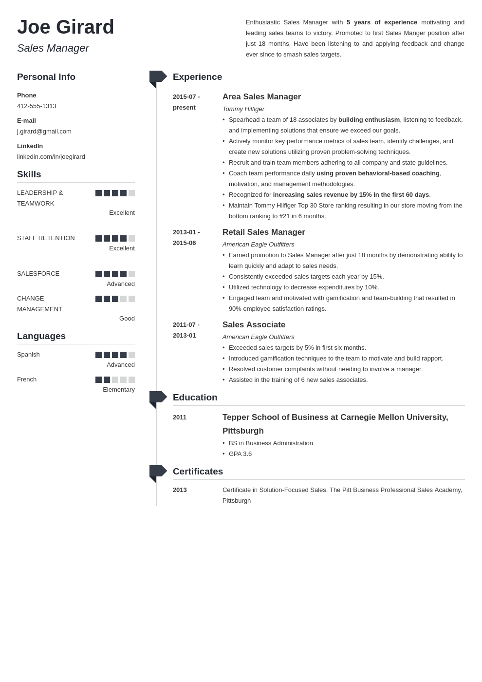 sales manager resume example template muse in 2020 Job