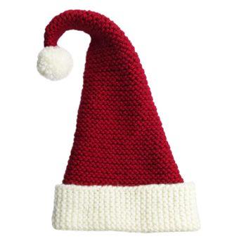 Easy Knit Santa Hat Holidays Pinterest Knitting Knitting