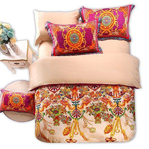 FADFAY, Elegant Colorful Boho Style Bedding Set, Designer European Country Style Bedding Set, Modern Bohemian Duvet Covers, 4Pcs (King) FADFAY http://www.amazon.co.uk/dp/B00MMVJ5RO/ref=cm_sw_r_pi_dp_3cMvvb1KNKPGZ