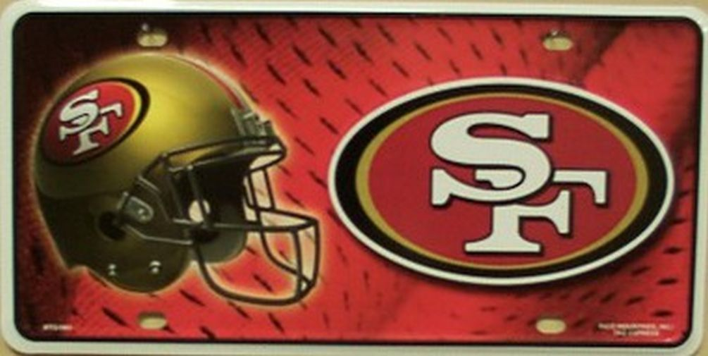San Francisco 49ers Metal License Plate   Products   Pinterest